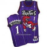 Camiseta Toronto Raptors Tracy McGrady #1 Retro Violeta
