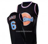 Camiseta Tune Squad Lebron James #6 Negro