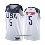 Camiseta USA Donovan Mitchell #5 2019 FIBA Basketball World Cup Blanco