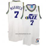 Camiseta Utah Jazz Pete Maravich #7 Retro Blanco