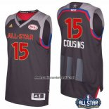 Camiseta All Star 2017 Sacramento Kings DeMarcus Cousins #15 Negro