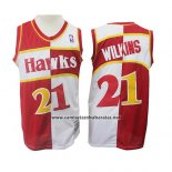 Camiseta Atlanta Hawks Dominique Wilkins #21 Retro Rojo Blanco