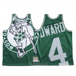 Camiseta Boston Celtics Carsen Edward #4 Mitchell & Ness Big Face Verde