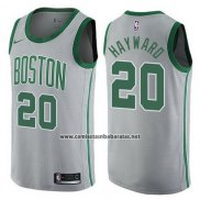 Camiseta Boston Celtics Gordon Hayward #20 Ciudad 2017-18 Gris