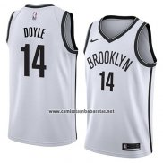 Camiseta Brooklyn Nets Milton Doyle #14 Association 2018 Blanco