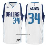 Camiseta Dallas Mavericks Devin Harris #34 Blanca