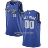 Camiseta Dallas Mavericks Nike Personalizada 17-18 Azul