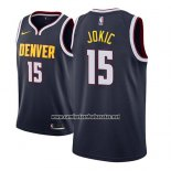 Camiseta Denver Nuggets Nikola Jokic #15 Icon 2018-19 Azul