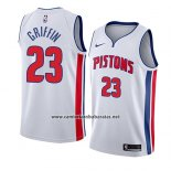 Camiseta Detroit Pistons Blake Griffin #23 Association 2018 Blanco