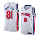 Camiseta Detroit Pistons Jose Calderon #81 Association 2018 Blanco