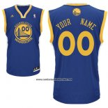 Camiseta Golden State Warriors Adidas Personalizada Azul