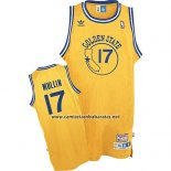 Camiseta Golden State Warriors Chris Mullin #17 Retro Amarillo
