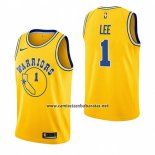 Camiseta Golden State Warriors Damion Lee #1 Hardwood Classic 2018-19 Amarillo