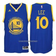 Camiseta Golden State Warriors David Lee #10 Azul
