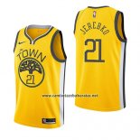 Camiseta Golden State Warriors Jonas Jerebko #21 Earned 2018-19 Amarillo