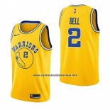 Camiseta Golden State Warriors Jordan Bell #2 Hardwood Classic 2018-19 Amarillo