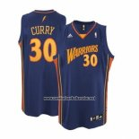 Camiseta Golden State Warriors Stephen Curry #30 Retro Azul