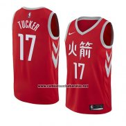 Camiseta Houston Rockets P.j. Tucker #4 Statement 2017-18 Negro