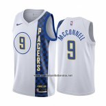 Camiseta Indiana Pacers T.j. Mcconnell #9 Ciudad Blanco