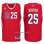 Camiseta Los Angeles Clippers Austin Rivers #25 Rojo
