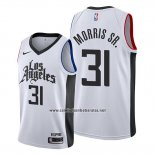 Camiseta Los Angeles Clippers Marcus Morris Sr. #31 Classic 2019-20 Blanco