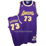 Camiseta Los Angeles Lakers Dennis Rodman #73 Retro Violeta