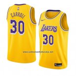 Camiseta Los Angeles Lakers Jeffrey Carroll #30 Icon 2018-19 Oro