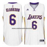 Camiseta Los Angeles Lakers Jordan Clarkson #6 Blanco