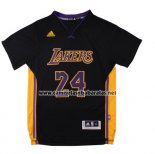 Camiseta Manga Corta Los Angeles Lakers Kobe Bryant #24 Negro