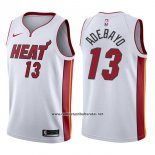 Camiseta Miami Heat Bam Adebayo #13 Association 2017-18 Blanco