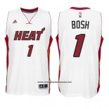 Camiseta Miami Heat Chris Bosh #1 Blanco