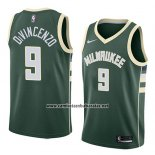 Camiseta Milwaukee Bucks Donte Divincenzo #9 Icon 2018 Verde