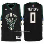 Camiseta Milwaukee Bucks Giannis Antetokounmpo #0 Negro