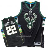 Camiseta Milwaukee Bucks Khris Middleton #22 Negro