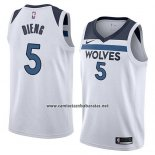 Camiseta Minnesota Timberwolves Gorgui Dieng #5 Association 2018 Blanco