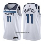 Camiseta Minnesota Timberwolves Jamal Crawford #11 Association 2017-18 Blanco