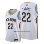 Camiseta New Orleans Pelicans Derrick Favors #22 Association Blanco