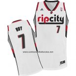 Camiseta Portland Trail Blazers Rip City Brandon Roy #7 Blanco