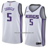 Camiseta Sacramento Kings Bruno Caboclo #5 Association 2018 Blanco