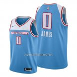 Camiseta Sacramento Kings Justin James #0 Ciudad 2019-20 Azul