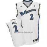 Camiseta Washington Wizards John Wall #2 Retro Blanco