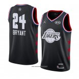 Camiseta All Star 2019 Los Angeles Lakers Kobe Bryant #24 Negro