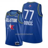 Camiseta All Star 2020 Dallas Mavericks Luka Doncic #77 Azul