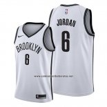 Camiseta Brooklyn Nets Deandre Jordan #8 Association Blanco