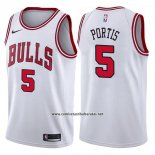 Camiseta Chicago Bulls Bobby Portis #5 Association 2017-18 Blanco