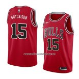 Camiseta Chicago Bulls Chandler Hutchison #15 Icon 2018 Rojo