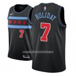 Camiseta Chicago Bulls Justin Holiday #7 Ciudad 2018-19 Negro