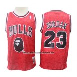 Camiseta Chicago Bulls Michael Jordan #23 Mitchell & Ness Rojo