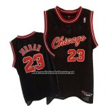 Camiseta Chicago Bulls Michael Jordan #23 Retro 1984-85 Negro