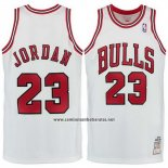 Camiseta Chicago Bulls Michael Jordan #23 Retro 1998 Blanco